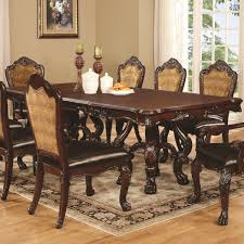 Coaster Dining Room Sets Benbrook Dining Table With Claw Feet And Palmette Details Coaster