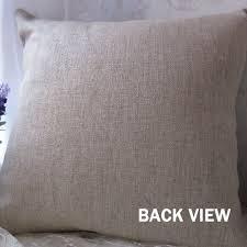 amazon com romantichouse cotton linen square decorative beige