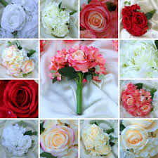 roses centerpieces silk roses and hydrangea flowers bouquets wedding centerpieces