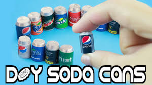 how to make miniature cola soda realistic pop cans easy