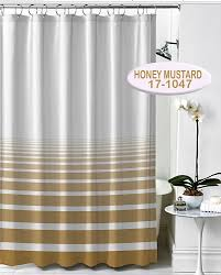 Polyester Shower Curtains Rujan Horizon Polyester Shower Curtain Lines Faded Horizontally
