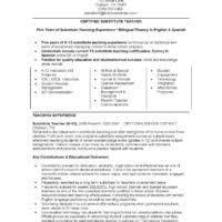 Substitute Teacher Resume Examples by Teacher Summer Teacher Resume Sample For Inspirations Eye