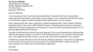 sales representative cover letter fresh sales representative