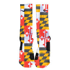 Calvert County Flag Custom Nike Elite Socks Maryland Flag White Gear Pinterest
