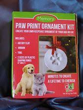 dei pet 45765 memory paw print keepsake ornament kit boxed ebay