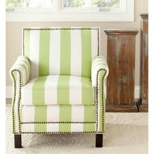 Linen Club Chair Safavieh Easton Green U0026 Cream Linen Club Arm Chair Mcr4572c The