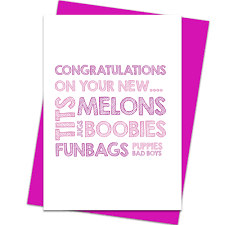 congratulations on new card congratulations breast surgery new melons