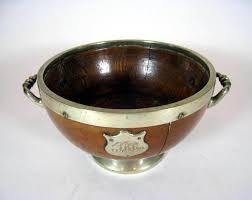 Trophy Pedestal Antique English Oak Pedestal Trophy Salad Bowl With Trophy Shield