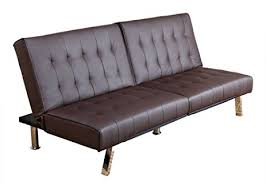 amazon com abbyson reagan leather foldable futon sofa bed dark