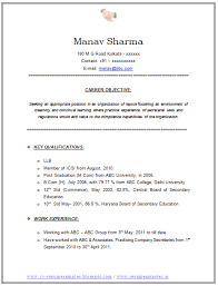 Resume Objective Samples For Any Job by Sample Resume Career Objective Finance Graduate