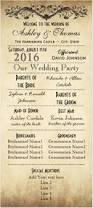 Vintage Wedding Programs Printable Wedding Program The Layla Collection Wedding