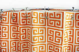 Greek Key Pattern Curtains Mandarin Greek Key Shower Curtain By Elisabeth Michael