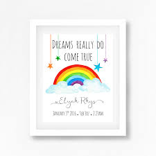 Gender Neutral Gifts by Rainbow Nursery Art Print Rainbow Baby Gift Gender Neutral