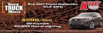 toyota special deals new lease deals at your kerry toyota dealer serving florence ky