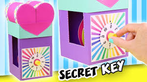 make a gift with secret key the combination lock apasos crafts