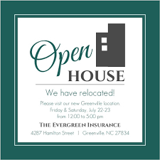 open house invitations modern everygreen business open house invitation business open