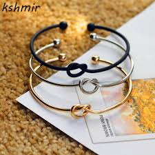 love knot bracelet images Original design very simple about pure copper casting love knot jpg