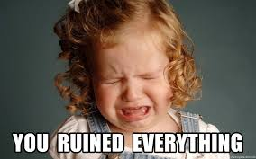 Crying Girl Meme - you ruined everything little girl crying meme generator