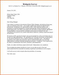 project administration cover letter