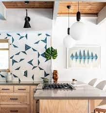white kitchen cabinets with blue tiles rad white and blue tile for your kitchen floor backsplash