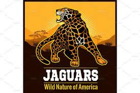jaguar clipart vector jaguar leopard logo emblem symbol illustrations
