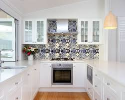 blue kitchen tile backsplash blue white tile backsplash houzz