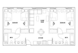 square floor plans 2 bed 2 bath shared bedroom chestnut square housing