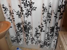 Leopard Print Shower Curtain by Curtains Ideas Black And White Leopard Print Shower Curtain