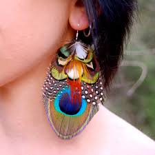 feather earrings forest dreams peacock feather earrings sale