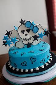 girls birthday cakes teal girly skull birthday cake u2013 lolo u0027s