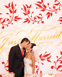 Wedding Backdrop Banner A Whimsical Pink Orange And Red Wedding In St Louis Martha