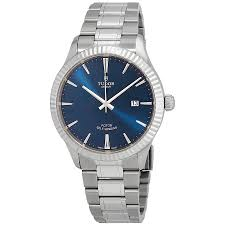 tudor style tudor style blue dial automatic men u0027s stainless steel watch 12710