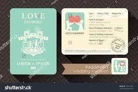 Design Card Wedding Invitation Passport Wedding Invitation Card Design Template Stock Vector