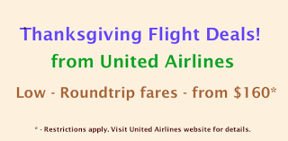 united airlines thanksgiving black friday flight travel deals