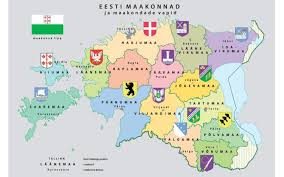Estonia On The World Map by Estonian Government Endorses Bill To Disband County Governments