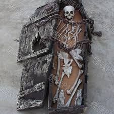 Skeleton Halloween Decoration Uk by Halloween Coffin Skeleton Skull Haunted House Party Room