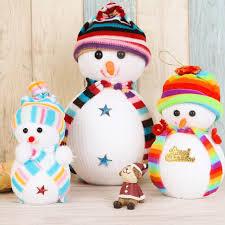 online shop 2017 new cartoon christmas doll snowman cute ornaments