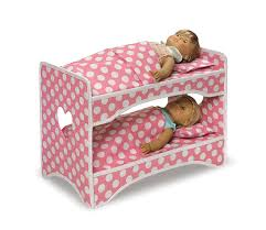 amazon com badger basket double doll travel case with bunk bed