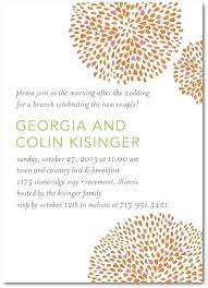 wedding brunch invitation wording post wedding breakfast invitations the morning after post wedding