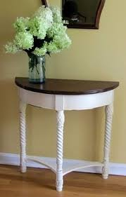 Half Moon Accent Table Best 25 Half Table Ideas On Pinterest Breakfast Table Decor