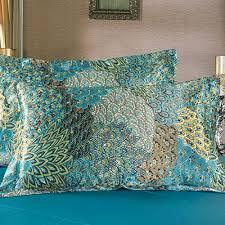 silk peacock home decor fadfay home textile peacock feather bedding set peacock blue bedding