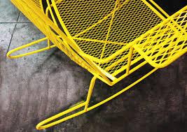 sold mid century metal mesh patio rocking chair rehab vintage
