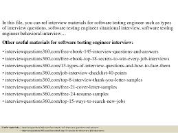 top 10 software testing engineer interview questions and answers