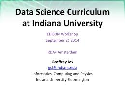 data science curriculum at indiana university