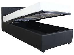coffre de chambre lit coffre 90x190 cm michigan coloris noir vente de lit enfant