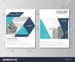 blue annual report template brochure layout stock vector 428140042