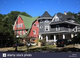 victorian style house victorian style houses at ditmas park brooklyn new york usa
