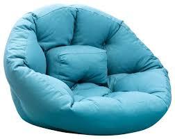 futon storage bag sleepy futon chair blue contemporary bean bag