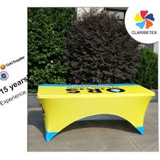 Logo Table Cloth by Customized Logo Printed Spandex Table Cloth Table Cover For Ibm