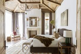 bedroom in a neutral palette and with rustic touches marie